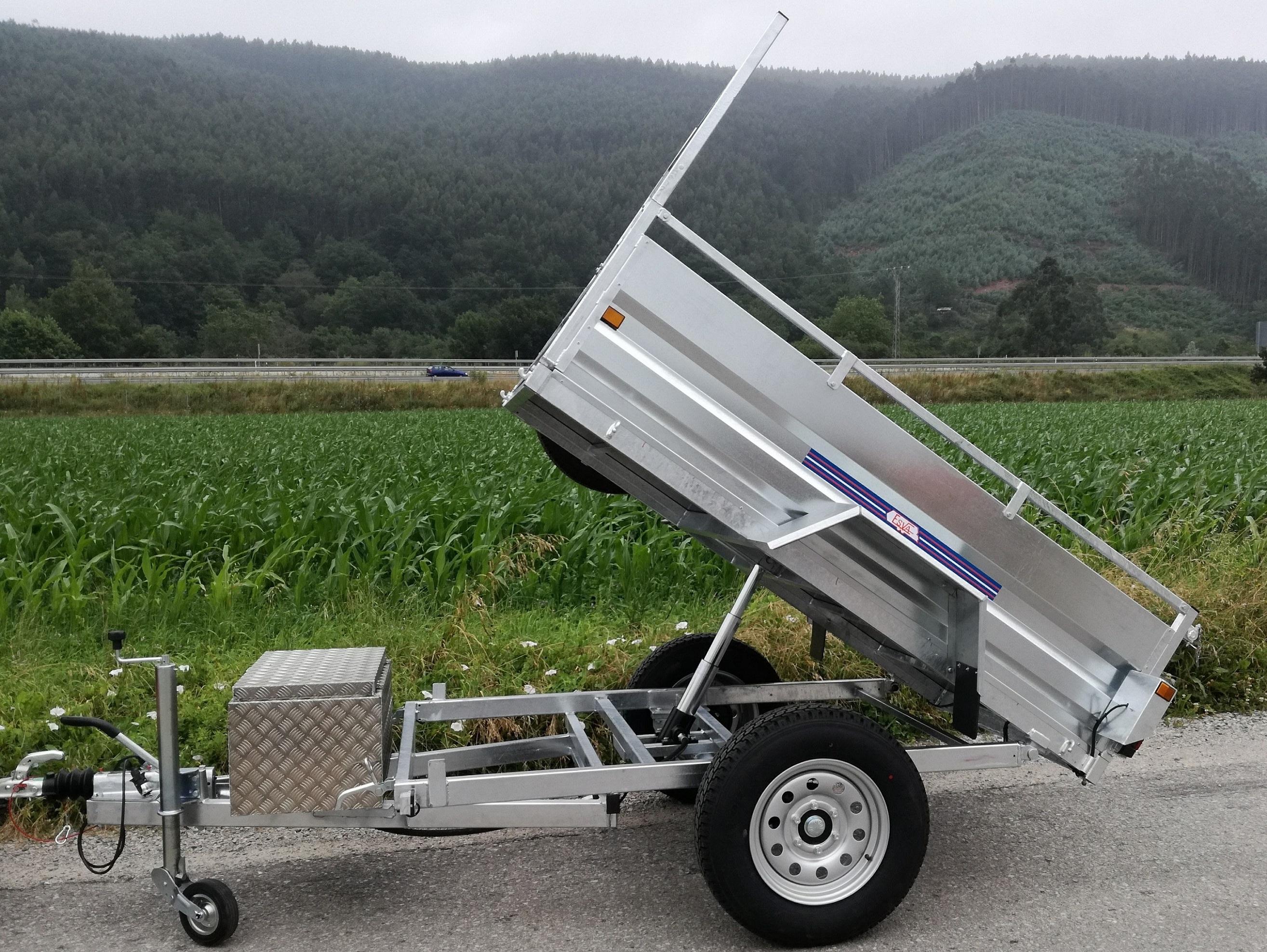 LI-23 R Remolque de carga industrial con basculante hidraulico ...